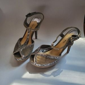 Silver and sparkle Gianni Bini pumps